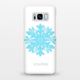 Galaxy S8+  Snowflake -light blue by Bettie * Blue