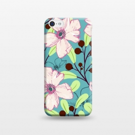 Ludic by Uma Prabhakar Gokhale (graphic, pattern, pink, blue, teal, green, brown, floral, blossom, exotic, bloom, nature, botanical, vines)