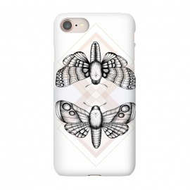 iPhone 8/7 SlimFit Polillas by Barlena (Moths, Butterfly, Night, Insect, Nature, Magic, Geometric, Illustration)