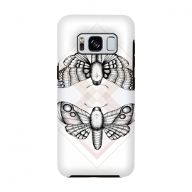 Galaxy S8  Polillas by Barlena (Moths, Butterfly, Night, Insect, Nature, Magic, Geometric, Illustration)