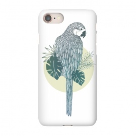 iPhone 8/7 SlimFit Pappagallo by Barlena (Animal, parrot, colorful, tropical, echo, copycat, illustration, summer)