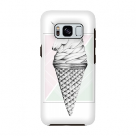 Galaxy S8  Unicone by Barlena (unicone, unicorn, ice cream, cone, fantasy, pastels)