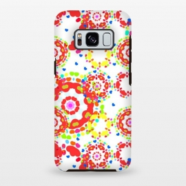Galaxy S8+  Heart Rain by Bettie * Blue (bright colors,red,hearts,love,valentine,mandala,geo,fun,whimsical,happy,girly,feminine)