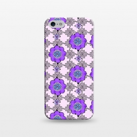 iPhone 5/5E/5s  Purple Shmurple by Bettie * Blue (purple,lavendar,flowers,floral,geo,retro)