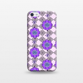 iPhone 5C  Purple Shmurple by Bettie * Blue (purple,lavendar,flowers,floral,geo,retro)