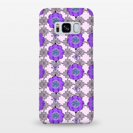 Galaxy S8+  Purple Shmurple by Bettie * Blue (purple,lavendar,flowers,floral,geo,retro)