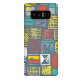 Galaxy Note 8  Square Metropolis Leaves by Rachael Taylor ()