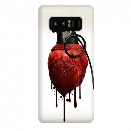 Galaxy Note 8  Heart Grenade by Nicklas Gustafsson (heart,grenade,love,war,peace,hate,blood,drips,symbolic)