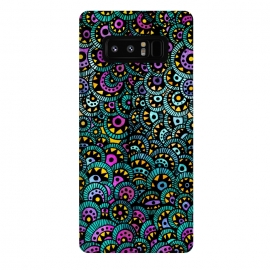 Galaxy Note 8  Peacock Tail by Pom Graphic Design ()