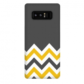 Galaxy Note 8  Color Blocked Chevron Mustard Gray by  ()