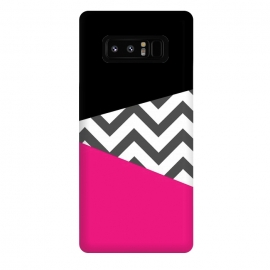 Galaxy Note 8  Color Blocked Chevron Black Pink  by  ()