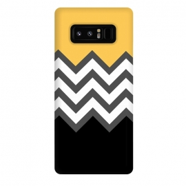 Galaxy Note 8  Color Blocked Chevron Black Yellow by  ()