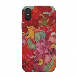 iPhone Xs / X  Vintage Flowers by Eleaxart