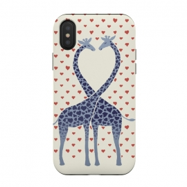 iPhone Xs / X  Giraffes in Love a Valentine's Day illustration by Micklyn Le Feuvre ()