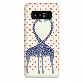 Galaxy Note 8  Giraffes in Love a Valentine's Day illustration by Micklyn Le Feuvre ()