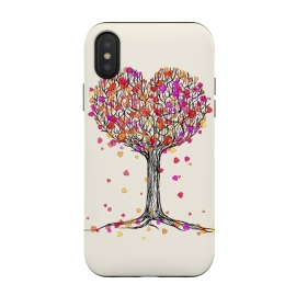 iPhone Xs / X  Love in the Fall Heart Tree Illustration by Micklyn Le Feuvre ()