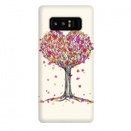 Galaxy Note 8  Love in the Fall Heart Tree Illustration by Micklyn Le Feuvre ()