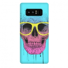 Galaxy Note 8  Pop Art Skull With Glasses by Balazs Solti ()