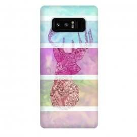 Galaxy Note 8  Deer Vintage Stripes Paisley Photo by Girly Trend ()