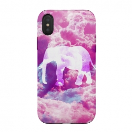 Elephant on Pink Purple Clouds by Girly Trend