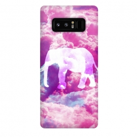 Galaxy Note 8  Elephant on Pink Purple Clouds by Girly Trend ()