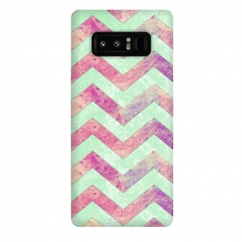 Galaxy Note 8  Mint Pink Watercolor Chevron by Girly Trend ()