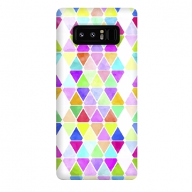 Galaxy Note 8  Watercolor Abstract Pastel Triangles by Girly Trend ()