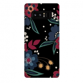 Galaxy Note 8  DarkFolk by Dunia Nalu (floral,nature,pattern,bouquet,folk,flower,flowers)