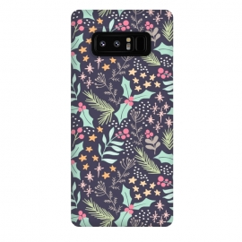Galaxy Note 8  Merry by Dunia Nalu (floral,star,stars,nature,pattern,christmas,holidays,women)