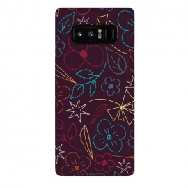Galaxy Note 8  StitchGarden by Dunia Nalu (floral,flower,flowers,nature,pattern)