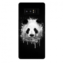 Galaxy Note 8  Panda Portrait in Black White by Philipp Rietz ()