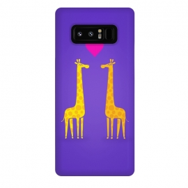 Galaxy Note 8  Couple in Love Purple by Philipp Rietz