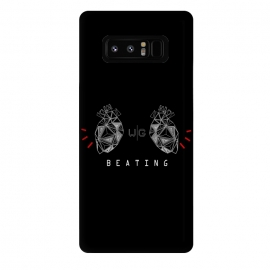 Galaxy Note 8  Hearts Black Capicúa by W-Geometrics ()