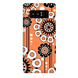 Galaxy Note 8  Orange Flowers by Shelly Bremmer ()