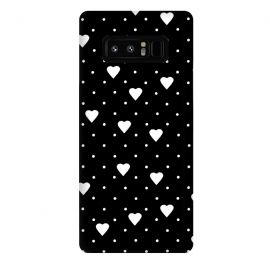 Galaxy Note 8  Pin Point Hearts White by Project M ()