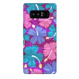Galaxy Note 8  Hawaii Surf by Kimrhi Studios (floral,tropical,flowers,hawaii,botanical,organic)