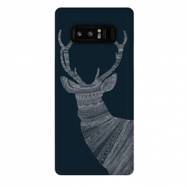 Galaxy Note 8  Stag Blue Poster blue by Florent Bodart