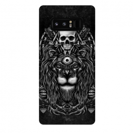Galaxy Note 8  Winya 44 by Winya (lion,king,animal,leo,forest,guardian,big tiger,spirit,lion hearted,god,lion face,popular,best seller,awesome,death,dead,line work,baroque,art line,tattoo design,tattoo,skull,horror,pop culture,nature,dark,great,epic,halloween,indian,bone,canine,feather,amulets,charm,arrow,tongue,shaman,sorcerer,ghos)