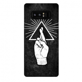 Galaxy Note 8  Winya 87 by Winya (hand,finger,finger cross,cross,fingers crossed,triangle of light,triangle,nerd,pop culture,hipster,holy light,good luck,lucky)