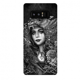 Galaxy Note 8  Winya 93 by Winya (chicano,neo traditional,tattoo style,black and white,tattoo,surreal,witch,magic,occult,culture,art line,line work,death metal,death,baroque,victorian,streem punk,gothic,pop culture,dark,sacred geometry,fantasy,diamond,mystical,sacred,creepy,fairy,angel,crow,rook,myth,queen,lion,roses,animal,lady,wom)