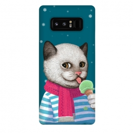 Galaxy Note 8  Cat and Ice Cream by Tummeow