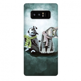Galaxy Note 8  Cat and Owl by Tummeow ()