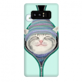 Galaxy Note 8  Cat in The Zip by Tummeow ()