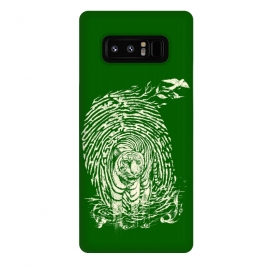 Galaxy Note 8  WildPrint by Jay Maninang (tiger,thumbrpint,wildlife,wild,bigcats,cats,nature)