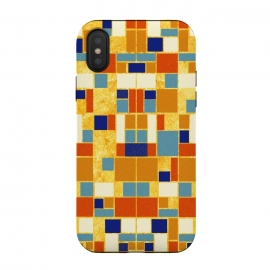 iPhone Xs / X  Colors of the royals 贵の彩 by  (royal,ancient,vintage,pattern,gold,egypt,blue,red,orage,brown,geometric,square,symmetry,abstract,arab,turquoise,agate,carnelian,ethnic)