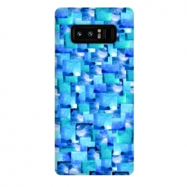 Galaxy Note 8  Ocean Slate by  (blue,ocean,sea,squares,geometric)
