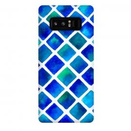Galaxy Note 8  Geo Blue by  (blue,squares,ocean,geometric)