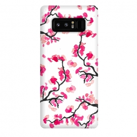 Galaxy Note 8  Japanese Cherry Blossoms by Amaya Brydon (cherry,cherryblossoms,japanese,pink,floral,japan,branches)