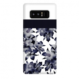 Galaxy Note 8  Floral Block by Amaya Brydon (floral,geometric,orchid,flower)