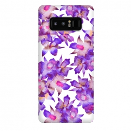Galaxy Note 8  Vintage Floral Violet by  (orchid,floral,nature,purple,pink,botanical)